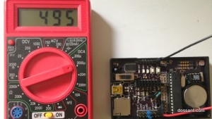 Power consumption using sample sleep code in my custom OLGA board. 3.3v 8Mhz. Led off.