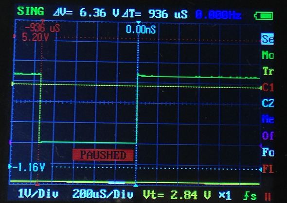 oscilloscope capture serial usb data